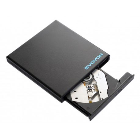 Svoyon Externes USB 3.0 Blu Ray BD Combo Laufwerk DVD/CD Brenner Slim für Computer/Notebook/Ultrabook
