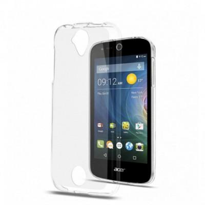 Svoyon Premium Set Hülle & Glasfolie für Acer Liquid Z330 TPU Slim Bumper Case Cover Schutz