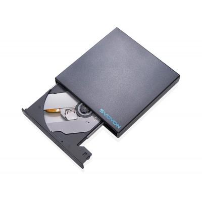 Externes Laufwerk CD/DVD Brenner (DVD±RW, DVD±R, DVD-RAM, CD-R, CD-RW) USB für Computer/Notebook/Ultrabook